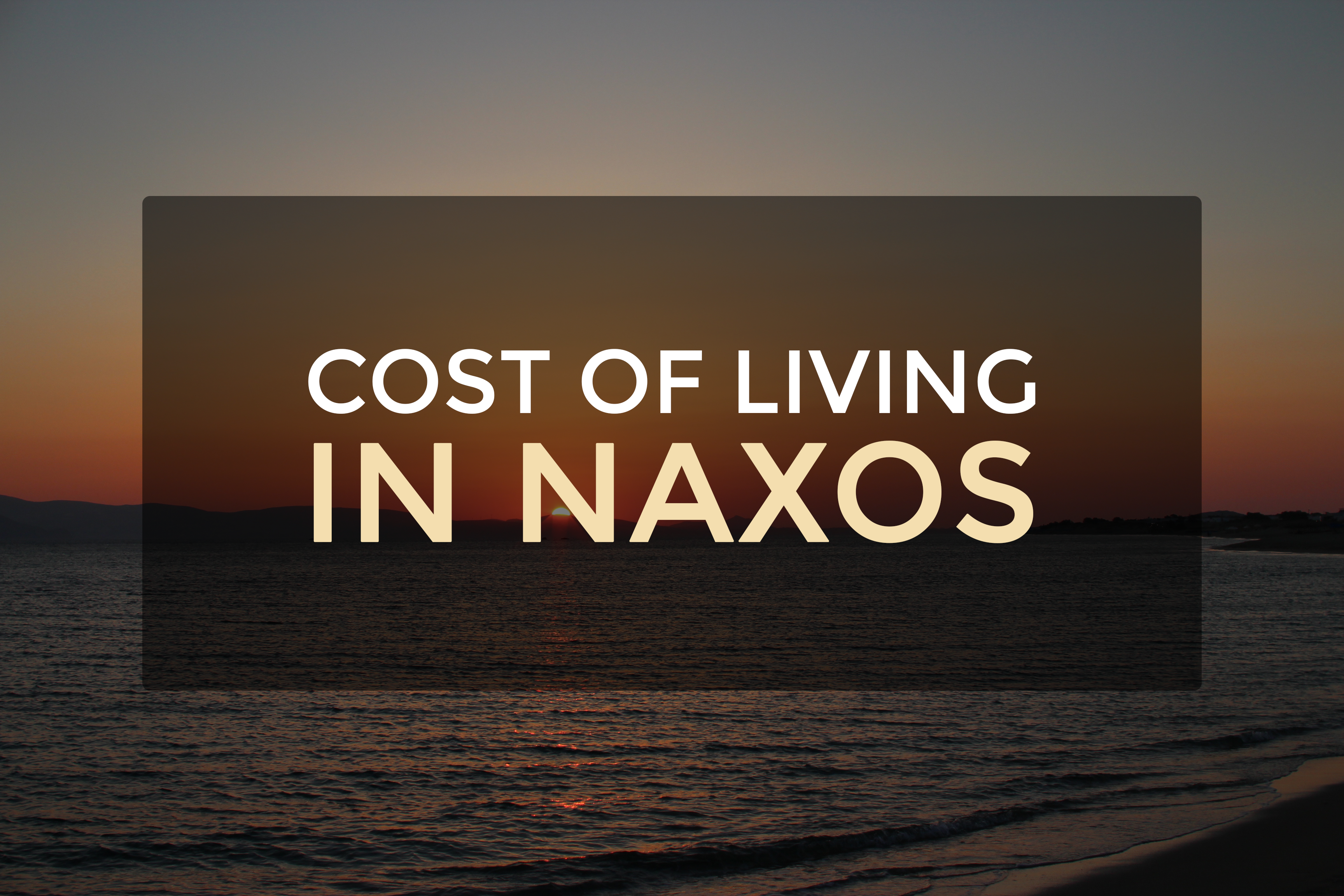 Cost Of Living In Naxos Greece 4 Nights Spending Report